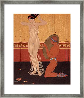 Illustration From Les Chansons De Bilitis Framed Print by Georges Barbier