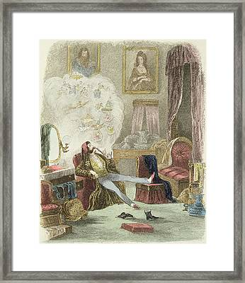 Illustration From Visitation Of A London Exquisite To His Maiden Aunts In The Country Framed Print by Theo