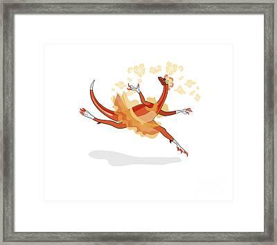 Illustration Of A Ballerina Dancing Framed Print by Stocktrek Images
