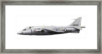 Illustration Of A Hawker P1127 Kestrel Framed Print by Chris Sandham-Bailey