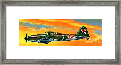 Ilyushin II 2m3 Russian Ground Attack Aircraft Framed Print by Wilf Hardy
