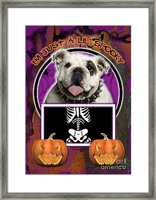 I'm Just A Lil' Spooky Bulldog Framed Print by Renae Laughner