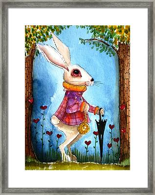 I'm Late Framed Print by Lucia Stewart
