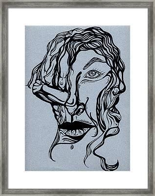 I'm Not Listening Framed Print by Karen Musick