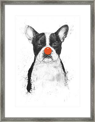 I'm Not Your Clown Framed Print by Balazs Solti