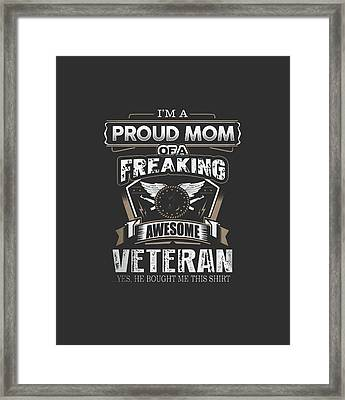 I'm Proud Of Mom.... Framed Print by Jackie Robinson