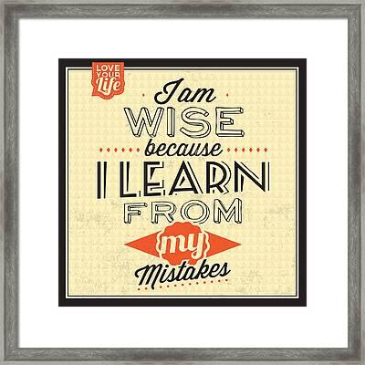 I'm Wise Framed Print by Naxart Studio