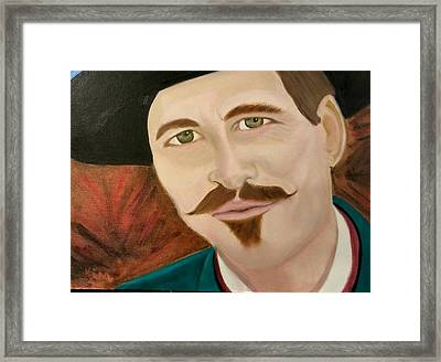 I'm Your Huckleberry Framed Print by Kimberly Smith