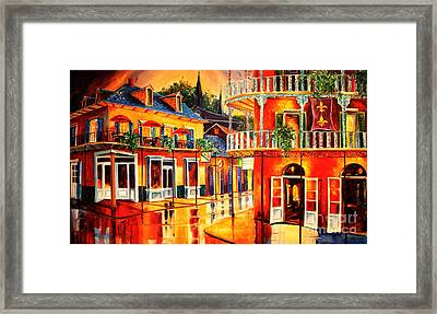 Images Of The French Quarter Framed Print by Diane Millsap