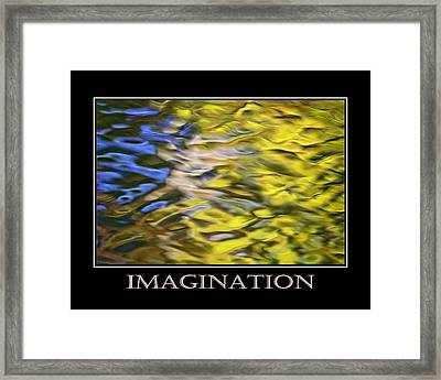 Imagination  Inspirational Motivational Poster Art Framed Print by Christina Rollo