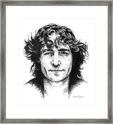 'imagine' Framed Print by Christine Lawrence