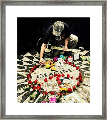 Imagine Framed Print by Jessica Jenney