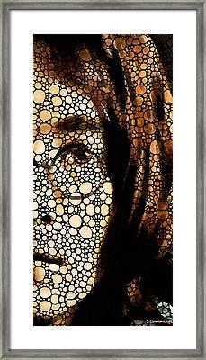 Imagine - John Lennon Tribute Framed Print by Sharon Cummings