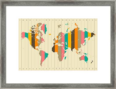 Imagine There's No Countries 2 Framed Print by Jazzberry Blue