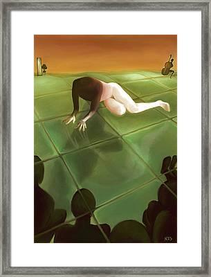 Imago The Watching Framed Print by Ari Rudenko