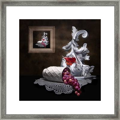 Imitation Of Art Still Life Framed Print by Tom Mc Nemar