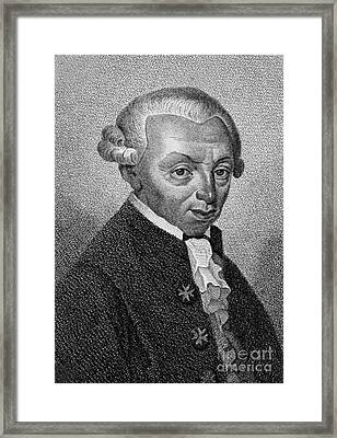 Immanuel Kant, German Philosopher Framed Print by Wellcome Images