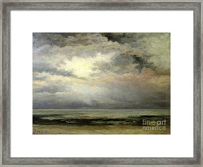 Immensity Framed Print by Gustave Courbet