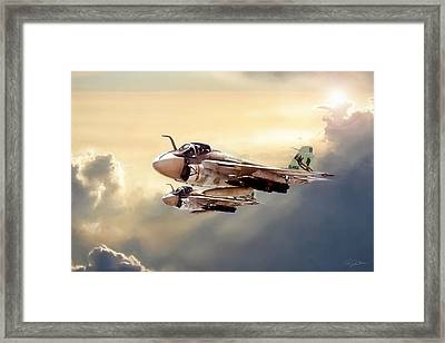 Impending Intrusion Framed Print by Peter Chilelli