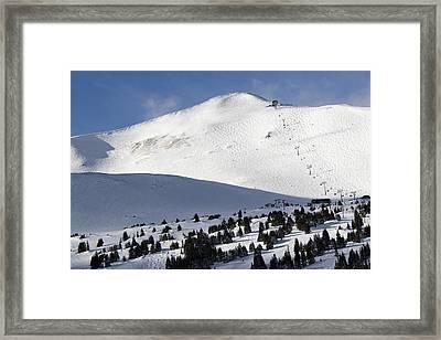 Imperial Bowl On Peak 8 At Breckenridge Colorado Framed Print by Brendan Reals