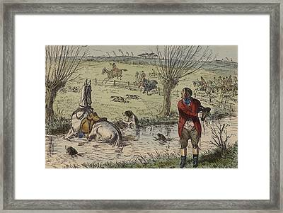 Imperial John's Attempt To Show The Way Framed Print by John Leech