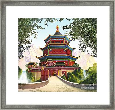 Imperial Palace Framed Print by Melissa A Benson