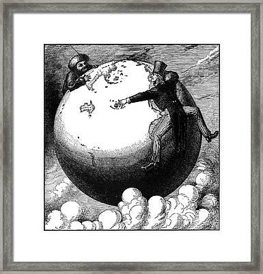 Imperialism Cartoon, 1876 Framed Print by Granger