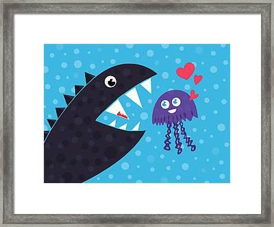 Impossible Love Framed Print by Boriana Giormova