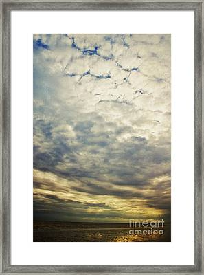 Impression Clouds Framed Print by Angela Doelling AD DESIGN Photo and PhotoArt