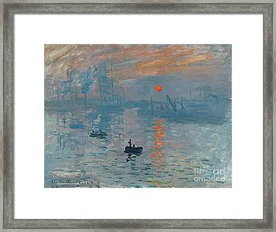 Impression Sunrise Framed Print by Claude Monet
