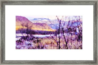 Impressionist Along The River Framed Print by Theresa Tahara