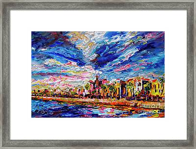 Impressionist Charleston South Carolina The Battery Framed Print by Ginette Callaway