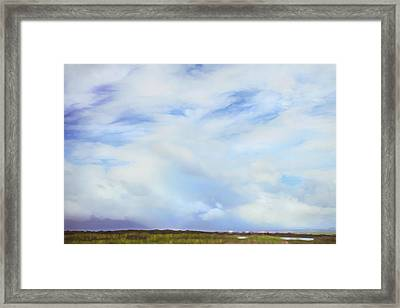 Impressionist Sky Over Maui Framed Print by Theresa Tahara