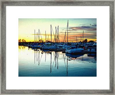 Impressions Of A San Diego Marina Framed Print by Glenn McCarthy Art and Photography