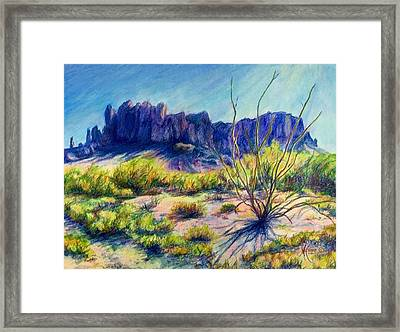 Impressions Of The Superstitions Framed Print by Mary Knape
