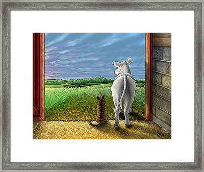 Improbable-here Comes The Sun Framed Print by Cara Bevan