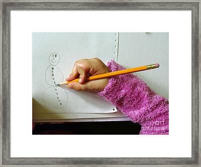 Improper Writing Framed Print by Scimat