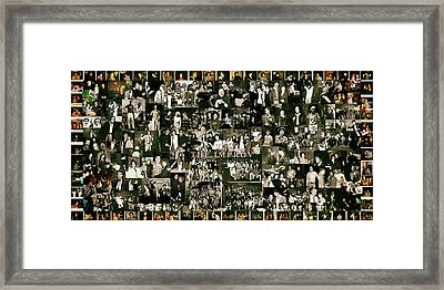Improv Collage Framed Print by Debbe Duperrieu