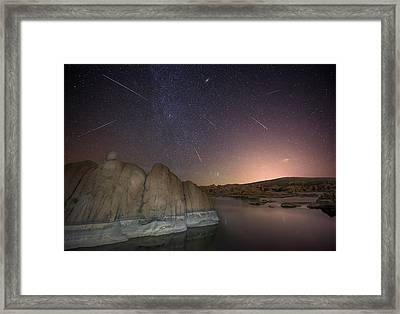 In A Flash Framed Print by Theresa Rose Ditson