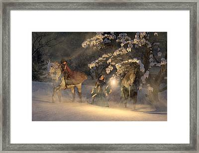 In A Land Far Far Away Framed Print by Betsy C Knapp