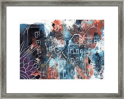 In A Northern Town- Abstract Art By Linda Woods Framed Print by Linda Woods