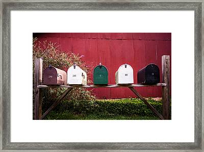 In A Row Framed Print by Parker Cunningham