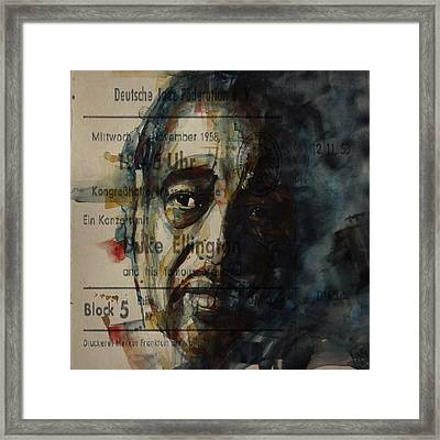 In A Sentimental Mood Duke Ellington Framed Print by Paul Lovering