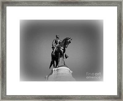 In All His Glory  Re Lee Framed Print by Nancy Dole McGuigan