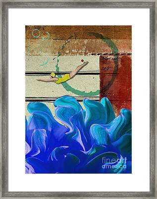 In At The Deep End Framed Print by Gillian Singleton