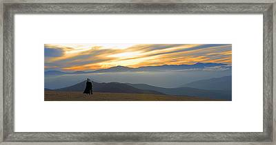 In Awe Of The View Framed Print by Alan Lenk