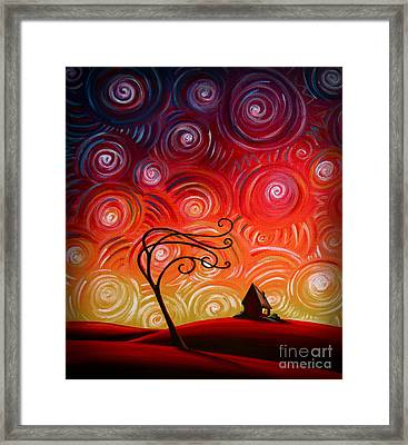 In Between Framed Print by Cindy Thornton