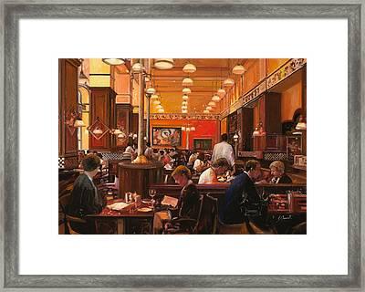 In Birreria Framed Print by Guido Borelli