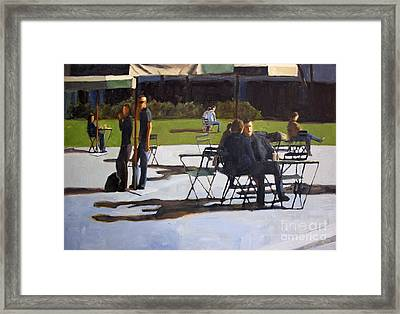In Bryant Park Framed Print by Tate Hamilton