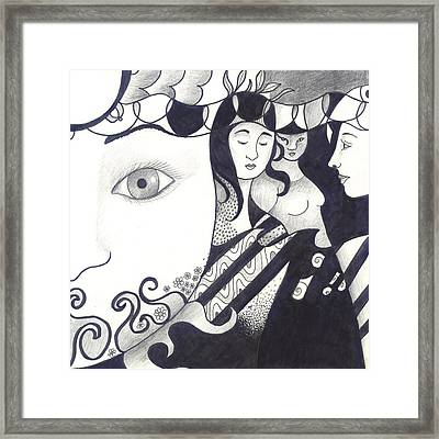 In Feminine Form Framed Print by Helena Tiainen